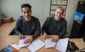 Eerste deelnemers van de Banenmotor tekenen contract