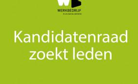 Kandidatenraad zoekt leden!
